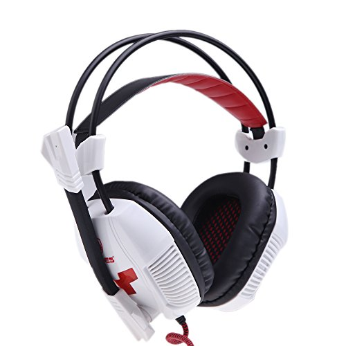 Docooler® Sades A30 Gaming Headphone Headset Earphone Usb Stereo 7.1 Surround With Mic For Pc Computer Game White