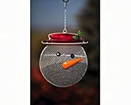 Evergreen Flag & Garden 2BF269 Snowman Suet/Seed Cake Decorative Bird Feeder, Beige