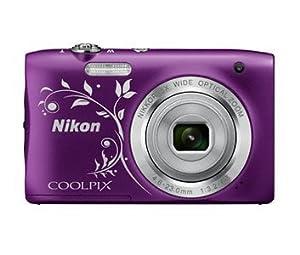 Nikon COOLPIX S2900 Digital Camera (Purple Ornament) International Model No Warranty