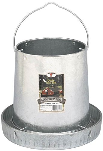 Miller 9112 12lb. Galvanized Hanging Poultry Feeder (Galvanized Waterer compare prices)