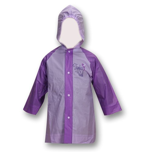 Disney Fairies Tinkerbell Purple Girls Rain Slicker size 2/3