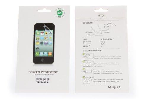 5 pacquets de film de protection ecran pour apple iphone 4. Black Bedroom Furniture Sets. Home Design Ideas