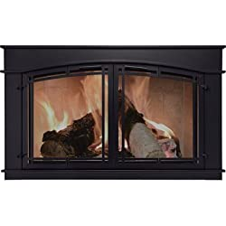 Pleasant Hearth Fieldcrest Fireplace Glass Door - Black, Model# FC-5903 from Pleasant Hearth
