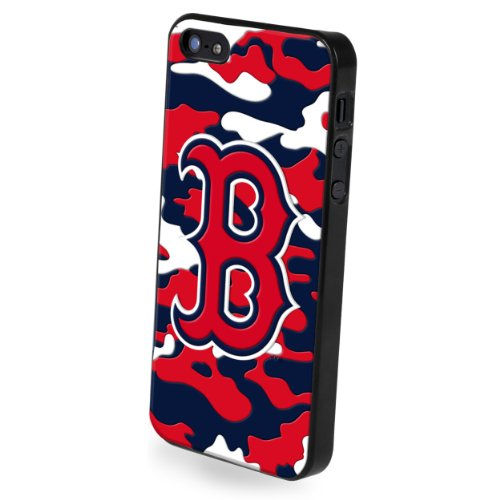 Forever Collectibles Boston Red Sox Camouflage Team Logo Hard Snap-On Apple iPhone 5 & 5S Case