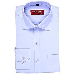 Magson Ace Men's Formal Shirt 1968096031_Blue_44