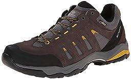 Scarpa Men\'s Moraine GTX Hiking Shoes Charcoal / Mustard 40 and Hiking Sock Bundle