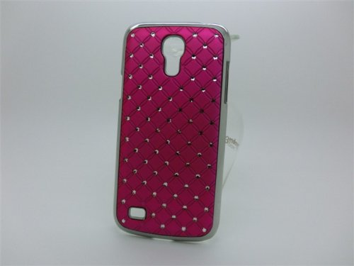 Maclogy 2014 Latest Fashion Design Luxury Dazzling Rhinestones Shiny Crystal Diamond Plating Protective Shell Trapped Difficult Cases Samsung Galaxy S4 I9500 And Fashion Chain Crystal Ornaments Color Uv Radiation Gifts (Crimson)