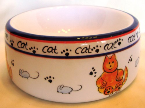 Ceramic Cat Food Bowl