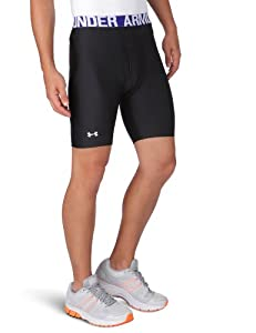Under Armour Shorts cg comp evo - Pantalones de running para hombre, tamaño M, color negro