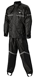 Nelson-Rigg Stormrider Rain Suit (Black/Black, Medium)