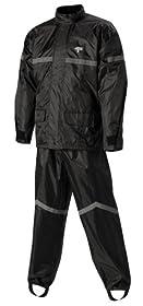 Nelson-Rigg Stormrider Rain Suit (Black/Black, Medium)