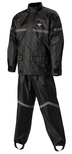 Great Deal! Nelson-Rigg Stormrider Rain Suit (Black/Black, Large)