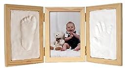 Clay Hand & Footprint Photo Keepsake Desktop Frame (Natural)