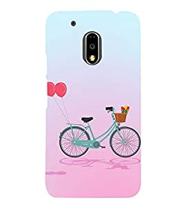 Clipart Bicycle Design 3D Hard Polycarbonate Designer Back Case Cover for Motorola Moto G4 :: Motorola Moto G (4th Gen)