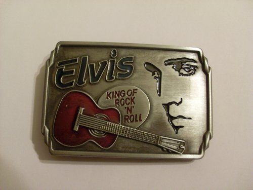 ELVIS PRESLEY Picture Face Belt Buckle pewter king of rock
