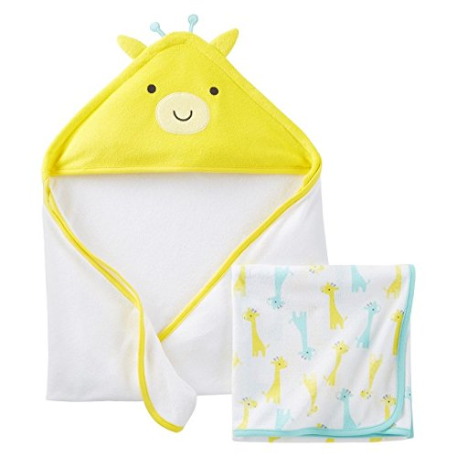 "Just One Youâ""¢Made by Carter's® Newborn 2 Pack Girraffe Towels - Yellow - 1"
