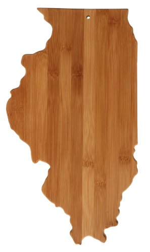 Totally Bamboo Cutting and Serving Board, Illinois State at Amazon.com