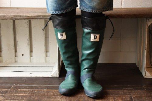 日本野鳥の会 バードウォッチング長靴 グリーン