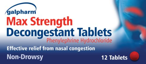 GALPHARM Max Strength Decongestant Tablets (Phenylephrine Hydrochloride) 12's
