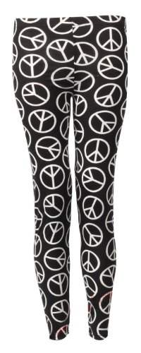 Womens Peace Print Viscose Jersey Legging