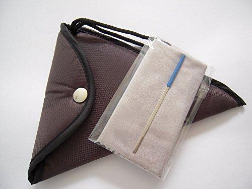 Brown Padded Ocarina Bag for 12 Holes Alto C Ceramic Ocarina - Large
