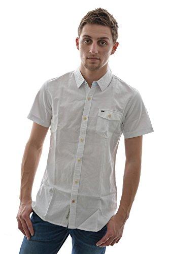 Camicia a maniche corte, motivo: tommy hilfiger nouri shirt s/s, colore: bianco bianco Small