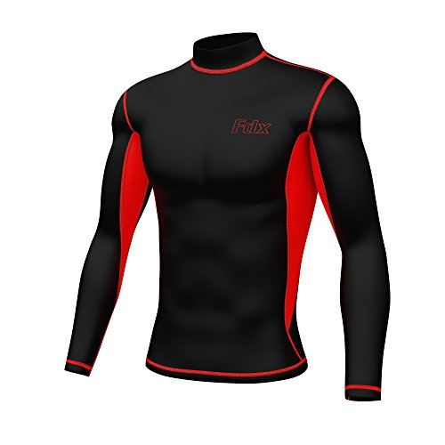 fdx-mens-super-thermal-compression-armour-base-layer-long-sleeve-cold-wear-top-black-red-x-large