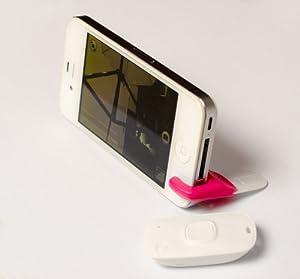 Foresight スナップリモート 【iPhone、Android携帯対応】自撮りや女子会に最適 アプリ起動で簡単接続 スタンド付きカメラリモコン M335 SPK