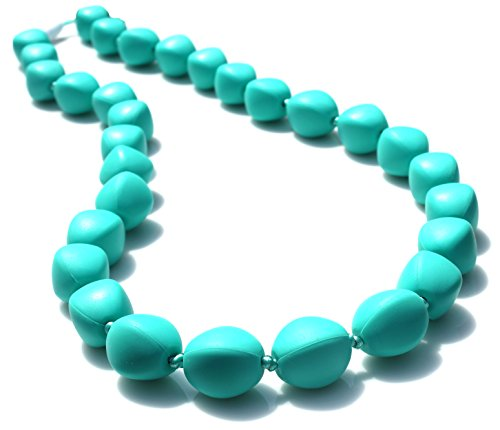 Peacemaker Jewelry Olive Bead Teething Necklace (Turquoise)