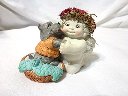 "Dreamsicles Figurine ""McKisses"" #11043 Angel with Gray Scottish Terrier"