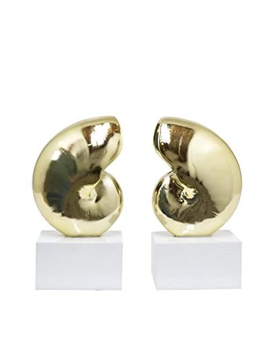 Three Hands Resin Nautilus Bookends