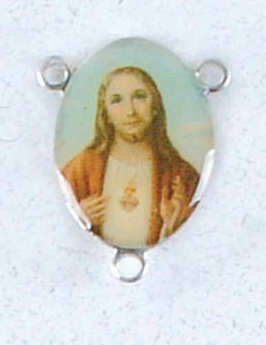 Rosary Centerpiece - Sacred Heart of Jesus - IMPORTED FROM ITALY