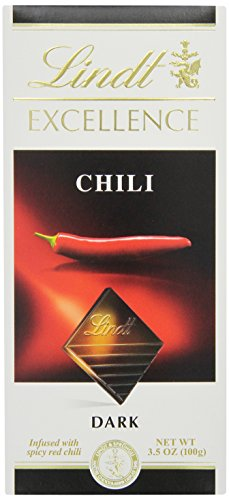 Lindt Excellence Chili Dark Chocolate Bar, 3.5-Ounce Packages (Pack of 12)