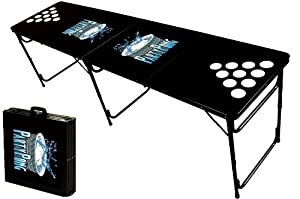 8-Foot Professional Beer Pong Table w/ Holes - Party Pong Logo