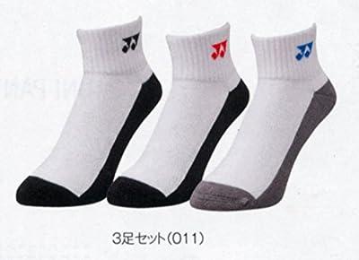 ヨネックス メンズ テニス 靴下 スニーカーインソックス3p ホワイト 25-28cm 19132y 011