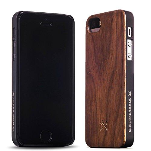 Carlton | Woodcessories EcoCase für Apple iPhone 5/5S Walnuss - Echtholz