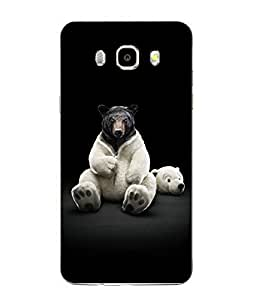 Snazzy Cartoon Printed Black Soft Back Cover For SAMSUNG Galaxy J5 - 6 (New 2016 Edition)