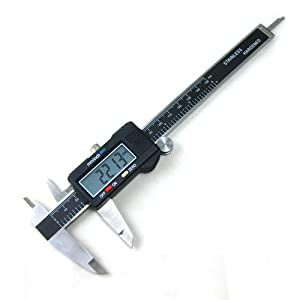 Neiko 01407A Stanless Steel 6-Inch Digital Caliper with Extra-Large LCD Screen and Instant SAE-Metric Conversion