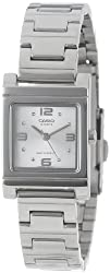 Casio Womens LTP1237D-7A Silver-Tone Shell White Dial Watch