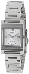 Casio Women's LTP1237D-7A Silver-Tone Shell White Dial Watch