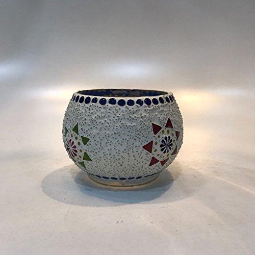 Dlite Crafts Multicolor Polka Design Home Decorative Votive Candle Holder, Set Of 2 PCs - B06XZM12ZH