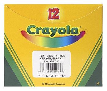 Crayola Regular Crayon Single Color Refill Pack - Black-12 count