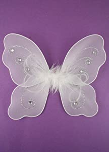 Childs White Fairy Wings - Approximately 22x20cm from The Fairy Box