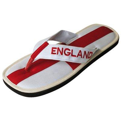 "Cinnamon Slippers Nawemo ""England"", World Cup-Edition, Size 14/15 Us"