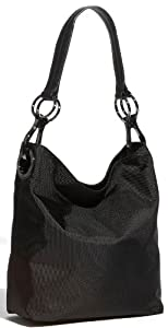 Jpk Paris Black Bucket Nylon Handbag
