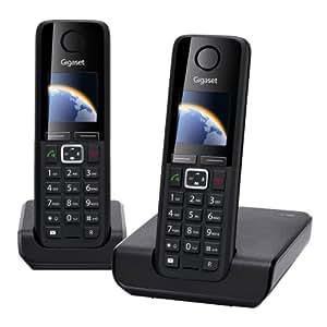 Gigaset C300 Duo Téléphone sans fil DECT/GAP 2 combinés Noir