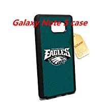 Eagles Football Team Samsung Galaxy Note 5 Case --with Tempered Glass Screen Protector