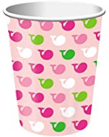 Creative Converting Ocean Preppy Girl Hot or Cold Beverage Cups, 8-Count