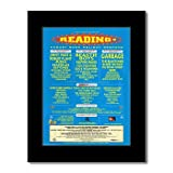 READING FESTIVAL - 1998 - Beastie Boys Page and Plant Matted Mini Poster - 28.5x21cm