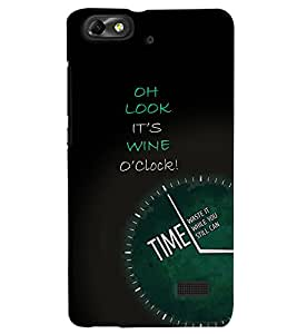 PrintVisa HH4C-Quotes & Messages Attitude Wine Time Plastic Back Cover (Multicolor)